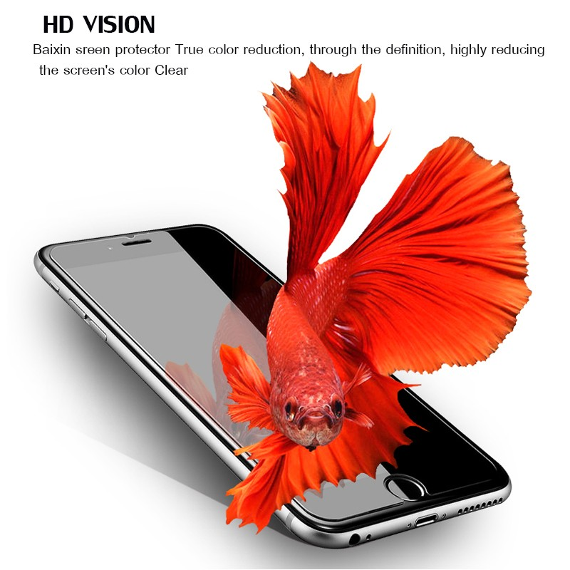 HTB1b.fULXXXXXcSXFXXq6xXFXXXB - 9H tempered glass For iphone XR XS X 8 4s 5s 5c SE 6 6s plus 7 plus screen protector protective guard film case cover+clean kits
