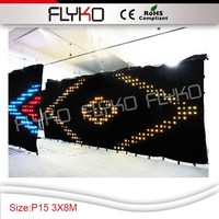 CE RoHS free shipping full color LED video Wedding KTV decorative background screens / PC controller / fireproof