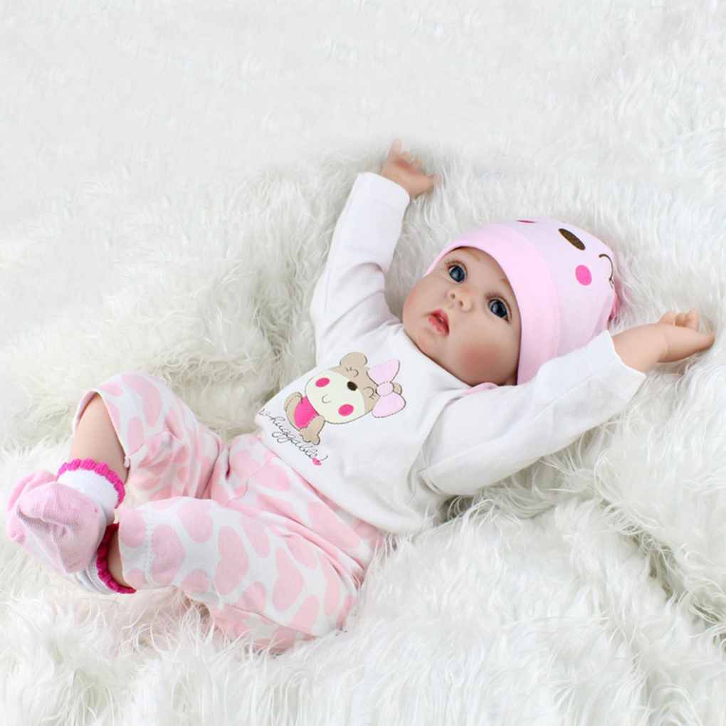 55CM 6PCS Realistic Newborn Handmade Lifelike Newborn Baby Doll Reborn Soft Silicone Vinyl Hair Rooted Gift for Girl ucanaan 20 50cm reborn doll hair rooted realistic baby born dolls soft silicone lifelike newborn toys for girls xmas kids gift
