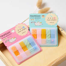 4 pcs Sweet whispers sticky notes Color index memo pad Bookmark stickers postit Stationery Office material School supplies CM390