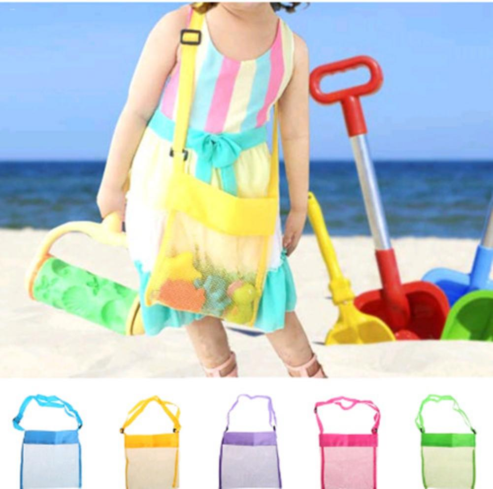 Portable Kids Sand Away Mesh Beach Bag Shell Collection Carrying Toys Storage Children Storage Toy Collection Sand Away Beach