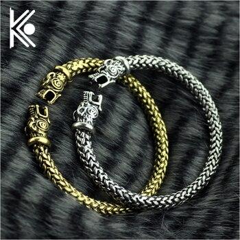 6a493101eb82 Pulseras de lobo de los vikingos para mujeres accesorios masculinos de moda  pulsera de vikingo para hombres pulseras de brazalete brazaletes de lobo ...