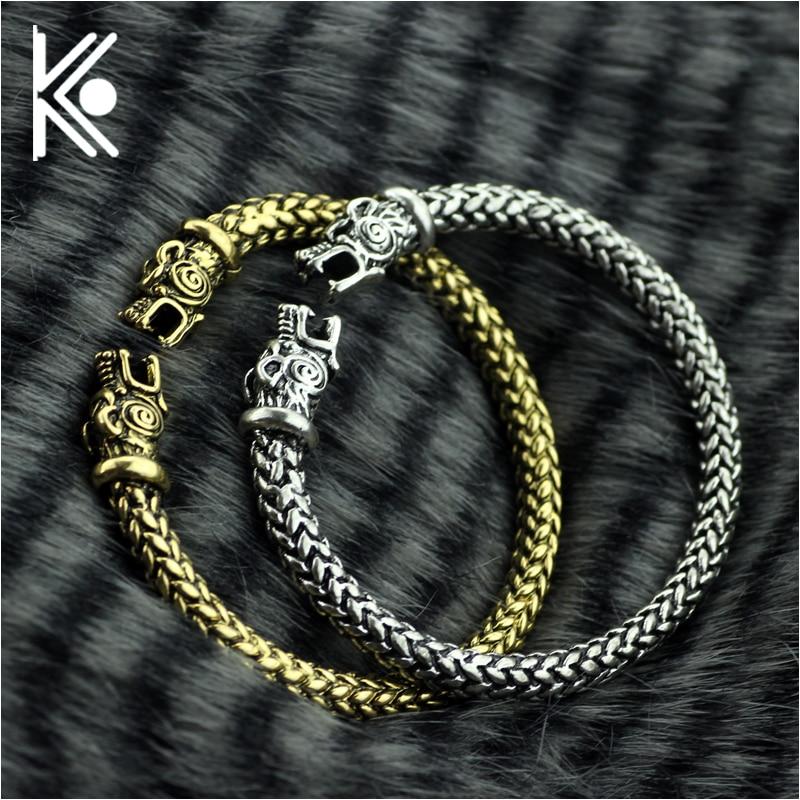 Vikings Wolf Bracelets Women Fashion Male