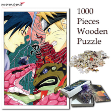 MOMEMO Puzzle Jigsaw 1000 Pieces Wooden Puzzles Naruto Sasuke Anime for Adults NARUTO Pattern Kid Toy