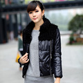Autumn and winter outerwear straight all-match women's fur collar down coat cheap clothes china women dress Fashion sexy