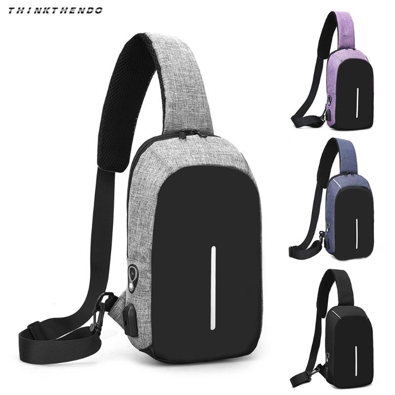 Chest Pack Messenger Handbag Multifunction Sling USB Charging Travel Crossbody Shoulder Bag 2018