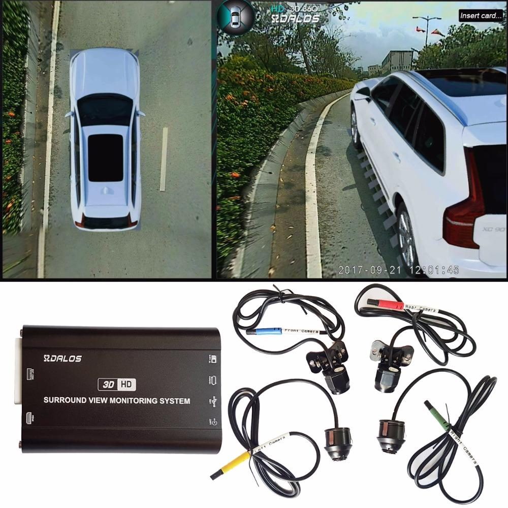 US $369 0 |SZDALOS Newst 3D HD 360 Surround View Monitoring System for  Volvo XC90 Bird View Camera System 4 CH 1080P DVR-in Car Multi-angle Camera