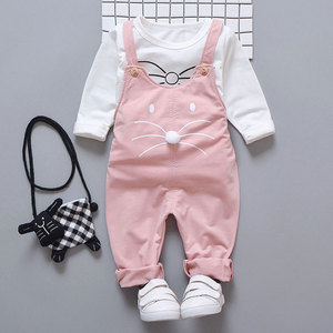 Image 2 - Spring newborn baby girls clothes sets fashion suit T shirt + pants suit baby girls outside wear  sports suit clothing sets
