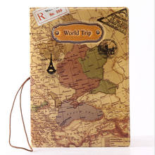 2018 New World Trip Map Travel Passport Covers for Men , PVC Leather ID Card Bag Passport holder Passport Wallets 14*9.6cm(China)