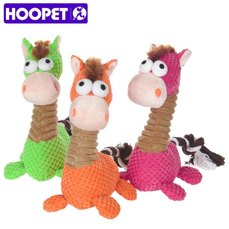 HOOPET Mascotas Puupy Perro Encantador Sonido Juguete Caballito Mordedura Resistentes Suministros Para Mascotas Chew Squeaker Squeaky Plush