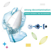 Portable Mini Ultrasonic Washing Machine Vibration Laundry Cleaner Cleaning Tool for Fruit Jewelry J2Y