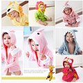 New Cartoon Hooded Baby Bathrobe/ Baby Towel/Character kids bath robe/children's Bathrobe Sleeper For 0-3Years