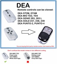 цены DEA MIO TD2, MIO TD4 Universal Remote Control Duplicator 4-Channel 433.92MHz..(only for 433.92mhz fixed code)