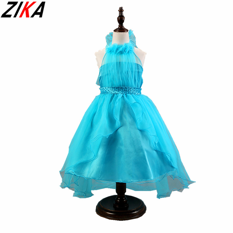ZIKA Flower Girls Dress 2017 New Summer Candy Lace Rose Party Wedding Birthday Princess Girl Dresses Children Clothes Size 3-9T 2017 new european fashion embroidery flower girls dress wedding pageant summer children princess birthday party lace dresses