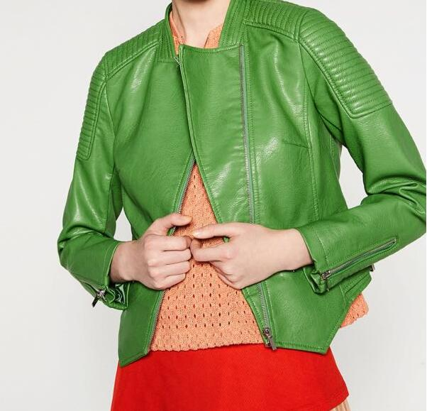 Popular Green Jacket with Leather Sleeves-Buy Cheap Green Jacket ...