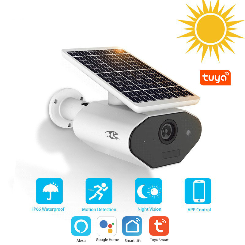 Graffiti Smart Wireless Network Outdoor Solar Camera Tuya Wifi