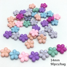 Meideheng DIY Beads Solid Multicolor Acrlic Beads Craft Jewelry Making Handmade Pendant Jewelry Accessories hot 14mm 90pcs/bag