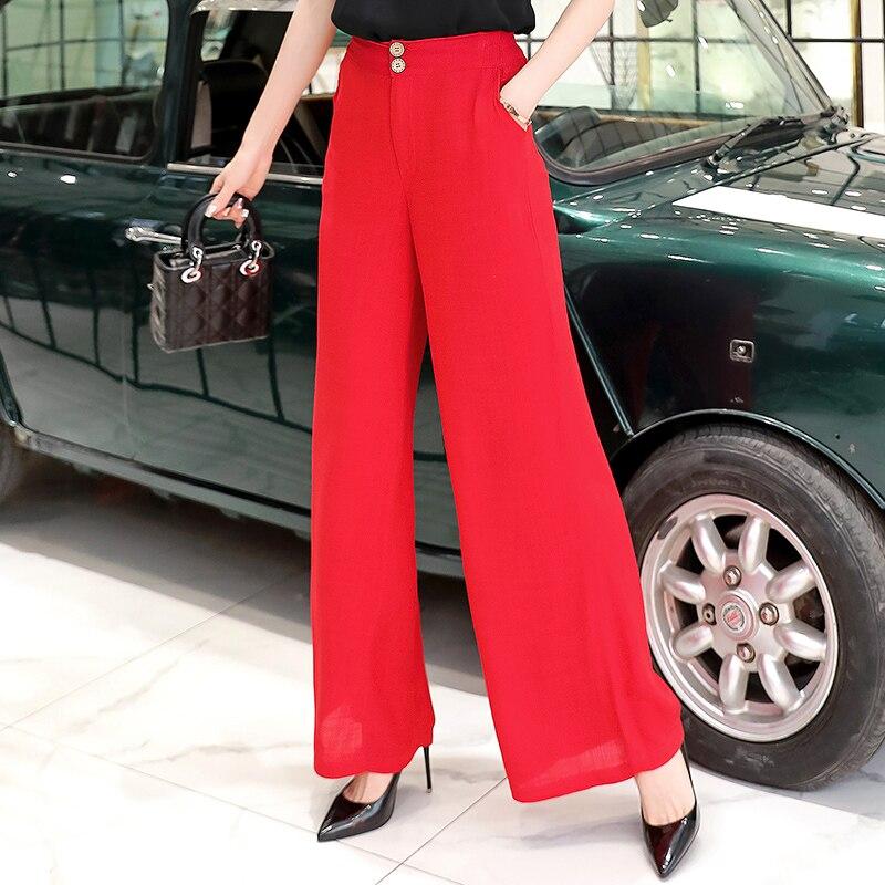 Large size new cotton and linen   wide     leg     pants   female summer linen casual   pants   straight   pants   women's loose   pants