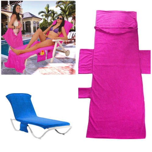 PK Lounger Mate Beach Towel Sun Lounger For Holiday Garden Lounge with Pockets