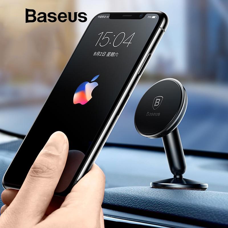 Baseus Universal soporte para coche para teléfono móvil soporte en el coche Mount Phone titular de teléfono móvil para coche 360 grados magnéticos del coche soporte de teléfono