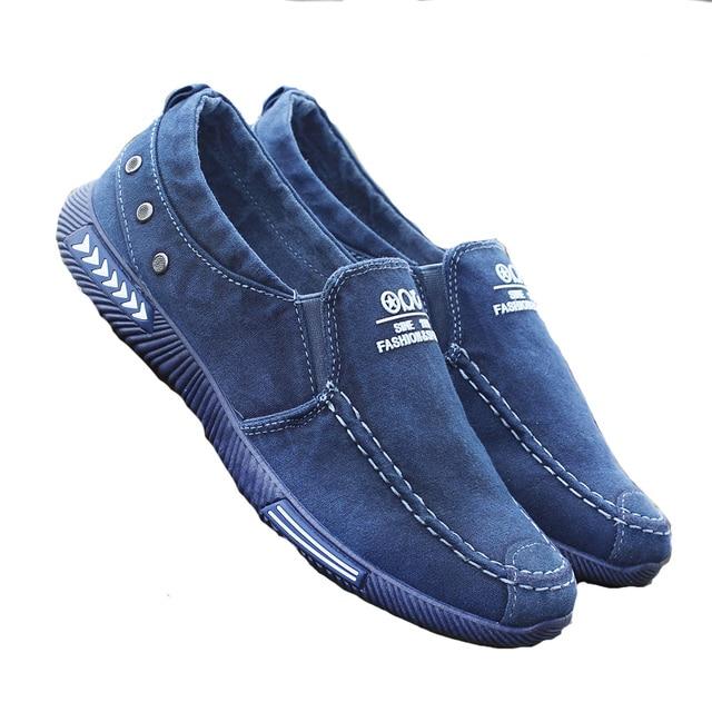2018 סתיו חדש גברים של בד ספורט נעלי דוושה לנשימה עצלנית נעליים בתוספת קטיפה חם קל משקל גדול גודל גברים של נעליים
