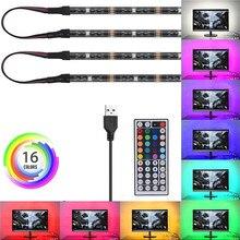 Bande lumineuse Flexible, SMD 5050 RGB LED, USB 5V DC, étanche IP20 IP65, 2m 3m, ajouter télécommande pour arrière plan de télévision intérieur