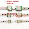 Бесплатная доставка 9 мм Линейная Направляющая MGN9 150 мм линейный железнодорожный путь + MGN9C или MGN9H Длинные линейные перевозки для ЧПУ Xyz оси