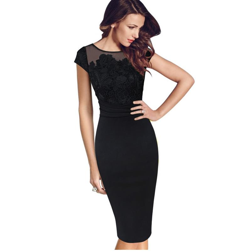 lace Net yarn Womens Elegant Embroidery Ruched Slim Tunic Casual Party Evening Special Occasion Sheath Pencil Bodycon dresses