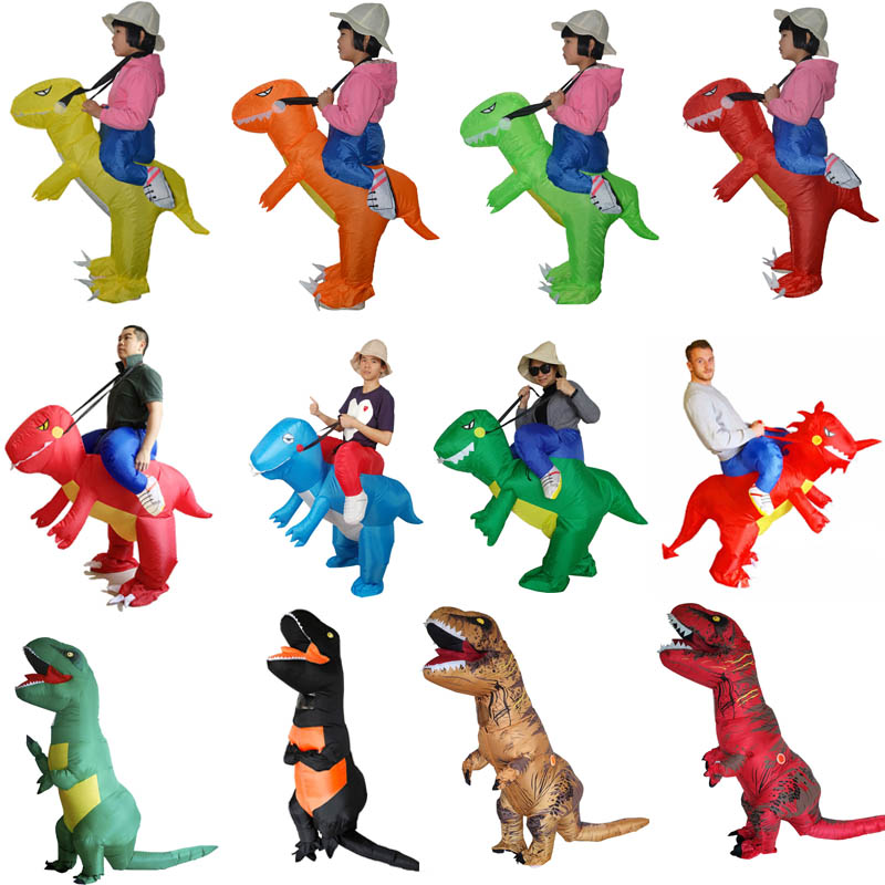 Inflatable Dinosaur Costumes for Kids Girls Boys Adults T-Rex Fancy Dress Purim Dino Halloween Costume for kids Animal Costume