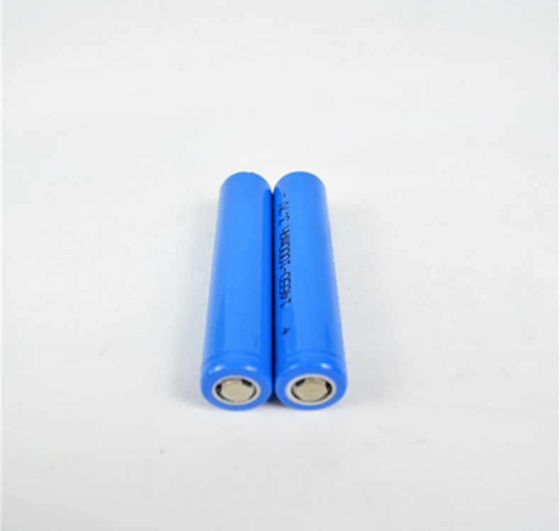 4 шт./лот Быстрая доставка 14650 1100 mAh 3,7 V литий-ионная аккумуляторная батарея 14650 Высокая емкость для фонарика