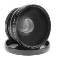 52mm 0.45X Alta Definição Lente Super Grande AngleLens com Acessórios Da Câmera Lente Macro para Canon para Nikon