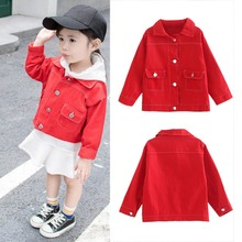 Baby Girls Autumn Red Jacket For Girls Coat Kids Warm Hooded Outerwear Coats Toddler Baby Girl Clothes Age 1-6Y High Quality db4009 davebella autumn baby girls hooded coat infant clothes girls red pink outerwear kids outerwear