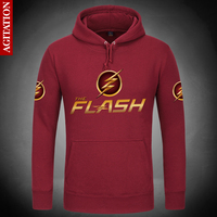 Newest Classic The Flash Hoodies Hoody Pullover Sweatshirt DC Comics Sweatshirts Outerwear Clothes Coat