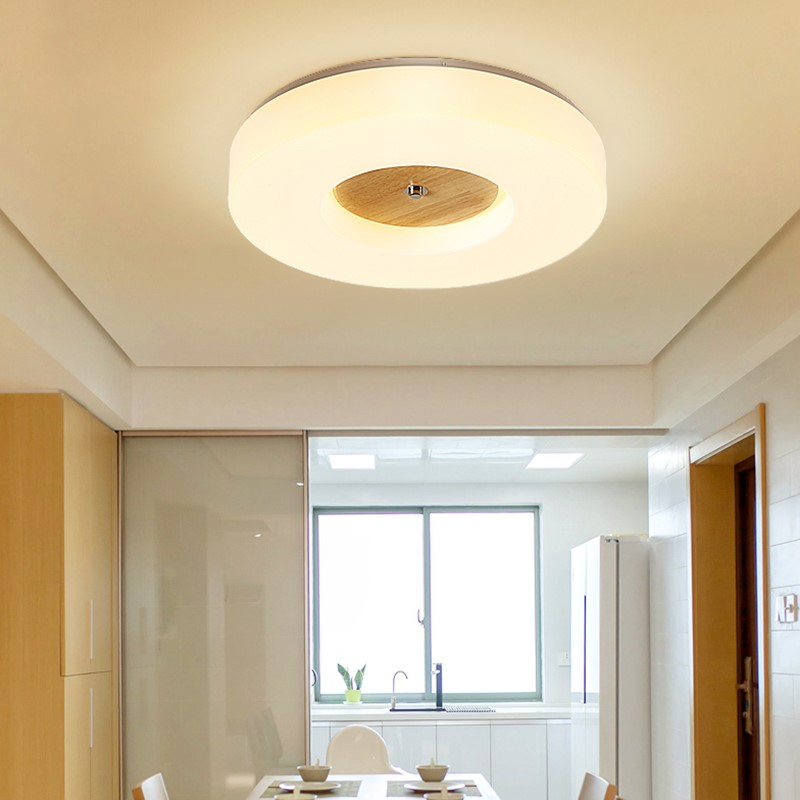 Modern Circular Foyer Led Ceiling Lights Fixtures Wood Nordic Restaurant Bedroom Aisle Balcony Ceiling Lamp Corridor LuminaireModern Circular Foyer Led Ceiling Lights Fixtures Wood Nordic Restaurant Bedroom Aisle Balcony Ceiling Lamp Corridor Luminaire