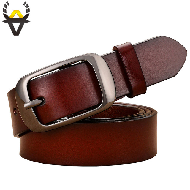 New 2017 Fashion Belts for women Genuine leather belt woman High quality thin strap for jean female Second layer Cow skin girdle