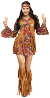 Womens Peace Love Hippie Costume American Native Costumes 70s Retro Party Stagewear Clothes Halloween Costumes For