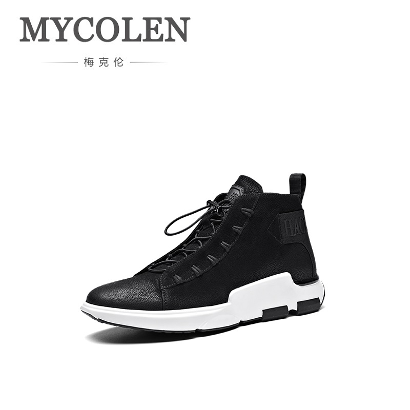 MYCOLEN The New Listing Outdoor Men Shoes Comfortable Casual Shoes Men Fashion Breathable Flats For Men Sneakers Soulier Homme mycolen the new listing men shoes brand new fashion mens sneakers 2018 breathable elastic band casual shoes man sepatu pria