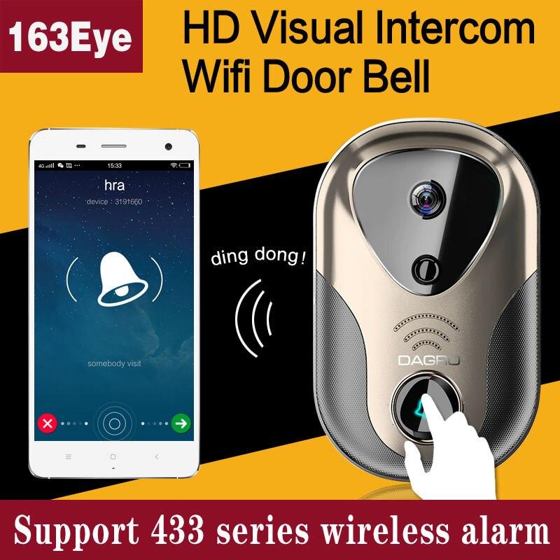 HD 720P Wifi Smart Visual Video Intercom Doorbell Wireless Wireless Alarm Motion Detection Support SD Card RecordingHD 720P Wifi Smart Visual Video Intercom Doorbell Wireless Wireless Alarm Motion Detection Support SD Card Recording