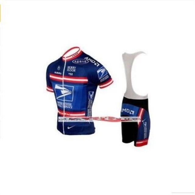 c0f857725 Free shipping COOLMAX+UNITED STATES POSTAL SERVICE Cycling Jersey bib short  Mountain bike clothes set china