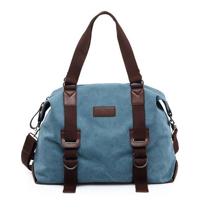 2018 Hot Sale Women Travel Bag Fashion Casual Canvas Duffle Bag High  Quality Bags Size 45 30 15cm 1004bf25a