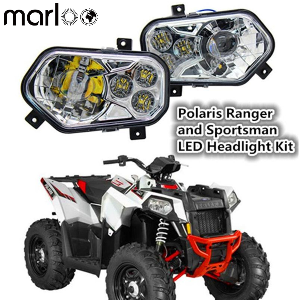 Marloo ATV UTV Light Accessories Projector Headlight Polaris Ranger / Sportsman LED Headlight Kit For Polaris Ranger Side X Side atv carburetor carb for polaris ranger 500 assembly 1999 2009