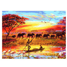 5d diamond painting full drill square Africa Animal DIY Diamond Embroidery Mosaic Picture Rhinestones Elephants arts home decor