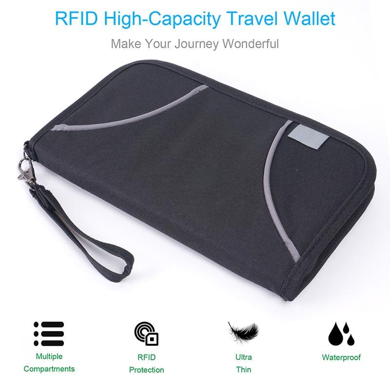Grenzenlose Voyage Reise Brieftasche Pass Halter mit RFID Sperrung ...