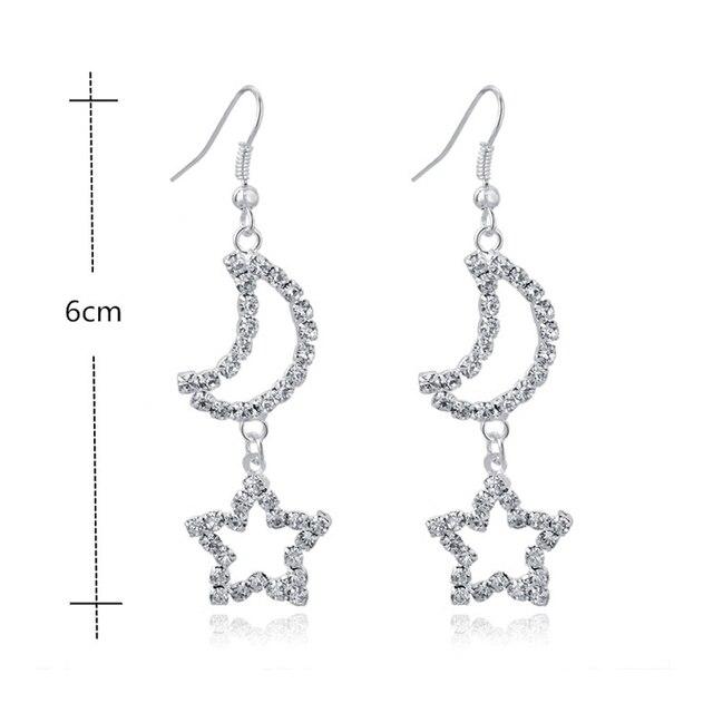Купить длинные серебряные серьги toucheart для женщин свадебные с кристаллами