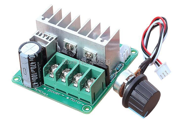 Quality In Intelligent 30pcs/lot Pulse Width Modulation Pwm Dc Motor Speed Control Governor Switch 9v-60v 20a Superior