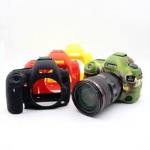 Красивые Мягкие Силиконовые Резина Камеры Защитный Чехол Кожа Случае Камеры Sling Ремешок Для Canon 6D Камеры Мешок
