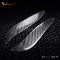 For Toyota Supra Eyelid Eyebrow 100 Real Carbon Fiber Headlight Cover 1993 1998 1011057