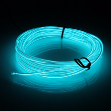 Dewtreetali 1M 2M 3M 5M Car decor 12V lighter LED Lamp Strip thread sticker tags accessory Flexible Neon Light EL Wire Rope Tube(China)