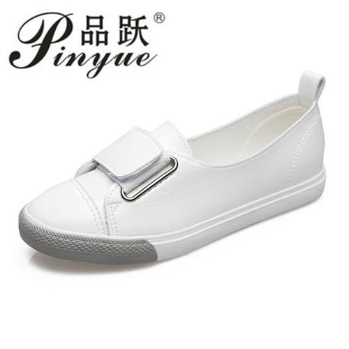 2018 Spring White Sneakers For Women Comfortably Lace-up Flats Shoes Woman Sneakers Fashion Casual Shoes Girls