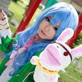 Date A Live Yoshino cos Blue Long Curly Cosplay Wig party wig